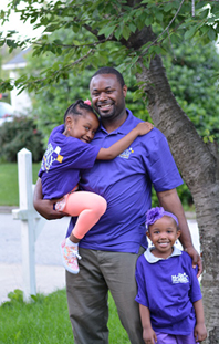 Cory McCray with daughters